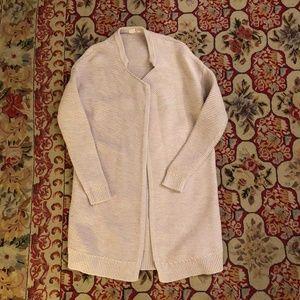 GAP marled lapel cardigan tunic